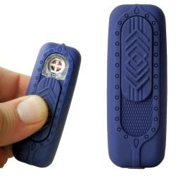 Briquet usb mini Bur bleu seconde génération avec grille anti enfoncement