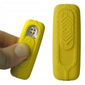 Briquet usb mini Bur jaune seconde génération avec grille anti enfoncement