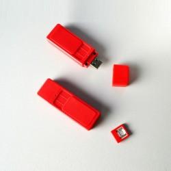 BRIQUET USB infinity rouge résistance interchangeable BUR