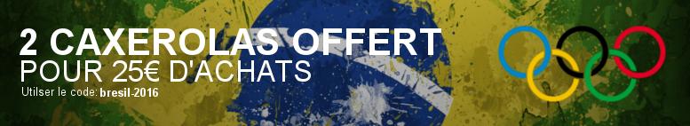 2 Caxirolas offerts pour 25€ d'achat avec le code bresil-2016
