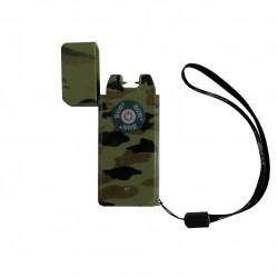 Briquet à ARC électrique vert kaki bariolé briquet USB LE PULSAR