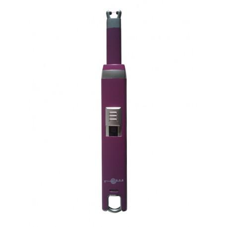 Briquet a bougie arc USB couleur violet BUR