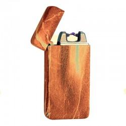 Briquet arc électrique USB marbre marron BUR