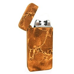 Briquet double arc usb marbre marron BUR