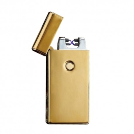 Briquet double arc usb Or mat BUR
