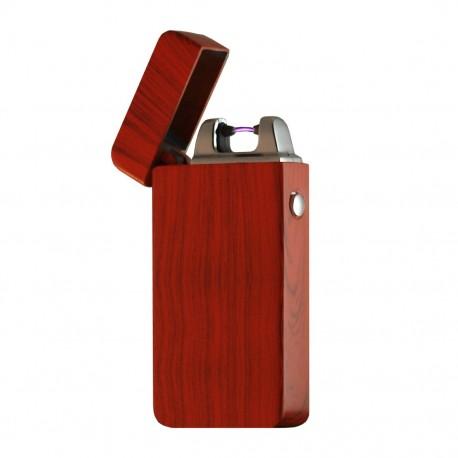 Briquet arc électrique USB bois acajou BUR