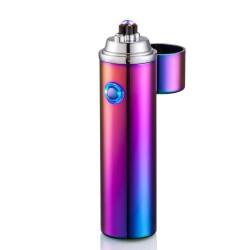 Briquet bi-arc USB spécial cigare et pipe Arc-en-ciel BUR